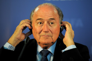 ROBBEN ISLAND, SOUTH AFRICA - DECEMBER 03:  FIFA President Joseph S. Blatter talks to the media during a press conference on December 3, 2009 in Robben Island, South Africa.  (Photo by Shaun Botterill/Getty Images)