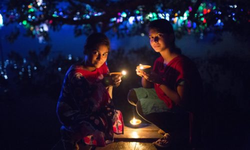 DHAKA, BANGLADESH - OCTOBER 29 : Bangladeshi Hindu people light oil lamps during the 'Deep Utsav or Light festival' ahead of the Diwali festival in Dhaka, Bangladesh, on October 29, 2016. Diwali also known as Deepavali and the ''festival of lights'', is an ancient Hindu festival. Diwali, marks the homecoming of the God Lord Ram after vanquishing the demon king Ravana and symbolises taking people from darkness to light and the victory of good over evil. (Photo by Zakir Hossain Chowdhury/Anadolu Agency/Getty Images)